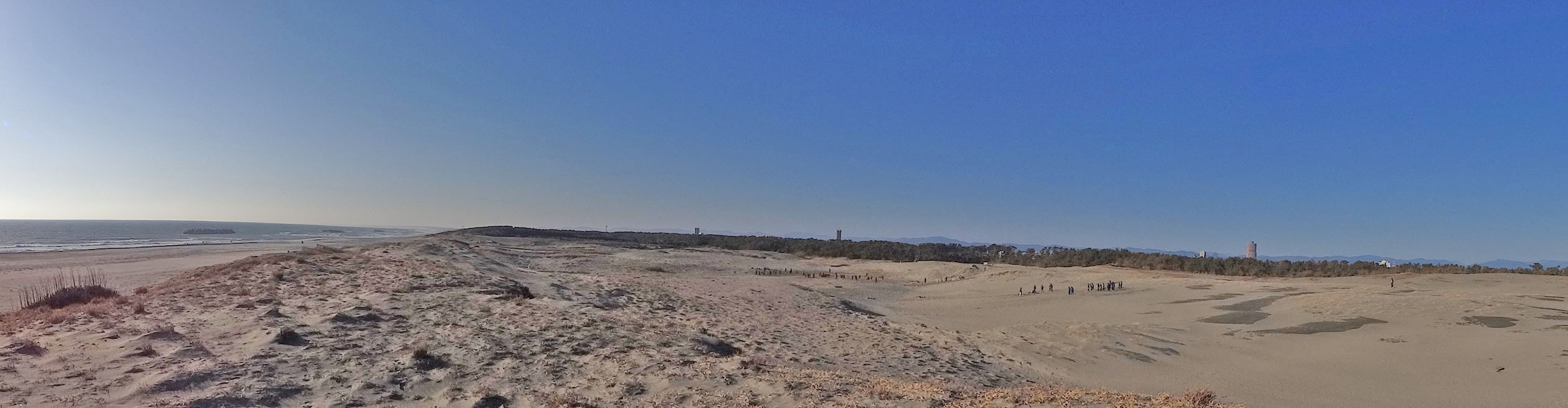 Three major sand dunes in Japan